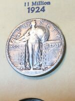 1924 STANDING LIBERTY QUARTER VF SEE MY LISTINGS FOR SILVER DOLLARS & MORE