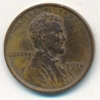 1914 LINCOLN WHEAT CENT-GENTLY CIRCULATED-SOFT TONING- SHIPS FREE