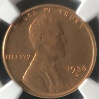 1936-S 1C RD LINCOLN WHEAT ONE CENT  NGC MINT STATE 66RD            4665562-005