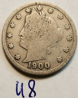 1900 US LIBERTY HEAD 5 CENT NICKEL UNITED STATES COIN U8D