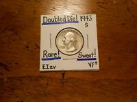1943S WASHINGTON QUARTER DOUBLED DIE VF  SWEET           ERR