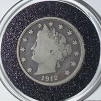 1912 D LIBERTY NICKEL RAW IN AIRTITE