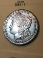 1888-S MORGAN DOLLAR AU SEE MY LISTINGS FOR SILVER DOLLARS AND HALF DOLLARS