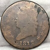1812 1C CLASSIC HEAD LARGE CENT ||| PROBLEM FREE, GREAT LOOKING EARLY US COPPER