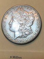 1890-S MORGAN DOLLAR AU SEE MY LISTINGS FOR SILVER DOLLARS AND HALF DOLLARS