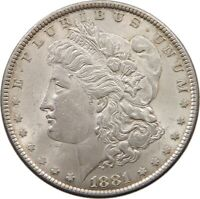UNITED STATES DOLLAR 1881 MORGAN TOP T89 289