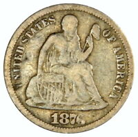 1876-CC SEATED DIME  VF  PRICED RIGHT