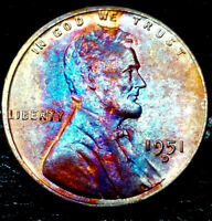 1951-D LINCOLN WHEAT CENT CENT-