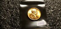 1956D LINCOLN WHEAT CENT  UNC RED BU