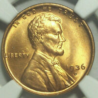 1936 D LINCOLN WHEAT CENT GEM MINT STATE 66 RD
