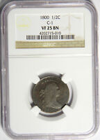 1800 HALF CENT - NGC VF25 C-1 -  AND ORIGINAL - PRICED RIGHT