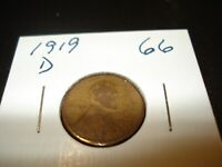 1919 D - USA ONE CENT - AMERICAN PENNY