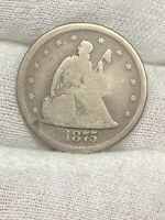 1875 S TWENTY CENT PIECE  ALL ORIGINAL COIN   NO RESERVE