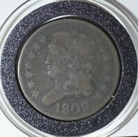 1809 CAPPED BUST HALF CENT