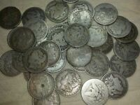 90 SILVER MORGAN DOLLARS 1878-1921 CULL ONLY CONDITION ROLL OF 20 COINS