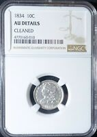 1834 SILVER CAPPED BUST DIME NGC