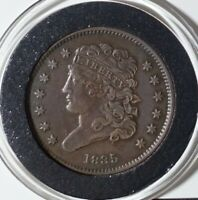 1835 CAPPED BUST HALF CENT