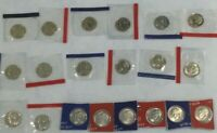 2000 2009 P D ROOSEVELT DIME BU UNCIRCULATED SATIN 20 COIN SET IN MINT CELLO