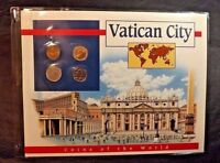 4 VATICAN CITY COINS OF THE WORLD POSTAL COMMEMORATIVE SOCIETY 1985-90