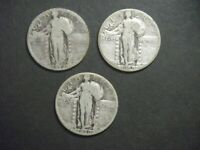 3 ORIG US STANDING LIBERTY QUARTERS DATED 1926S-1929S-1930S