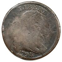 1798 S-156 R-5 DRAPED BUST LARGE CENT COIN 1C