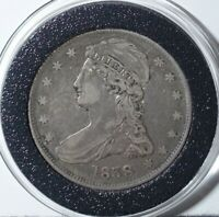 1838 REEDED CAPPED BUST SILVER HALF DOLLAR