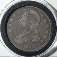 1836 LETTERED CAPPED BUST SILVER HALF DOLLAR