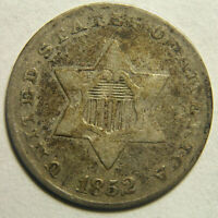 1852 SILVER THREE-CENT PIECE TRIME