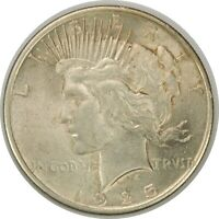 1925-P $1 PEACE SILVER DOLLAR  AU  CONDITION   TONED  071220
