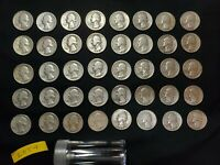 1940S 1950S ROLL OF 40 COINS 90  SILVER WASHINGTON QUARTERS
