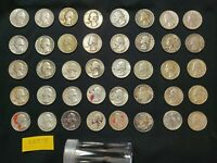 1940S 1964S ROLL OF 40 COINS 90  SILVER WASHINGTON QUARTERS