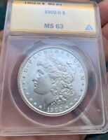 1902 O MORGAN SILVER DOLLAR CLEAN CHEEKUPGRADE POTENTIAL MINT STATE 63 LOOKS MINT STATE 65/66