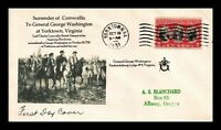 DR JIM STAMPS US YORKTOWN SURRENDER FDC MASONIC SEALED COVER