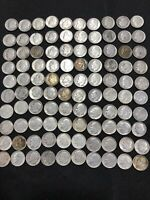 LOT OF 100 CIRCULATED ROOSEVELT DIMES 90  SILVER BULLION ASS