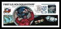 DR JIM STAMPS US HOLOGRAM SPACE HAND COLORED FDC UNSEALED LE