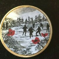 JACQUELINE HURLEY WAR POPPY COLLECTION GOLD COIN   PEACE FOR