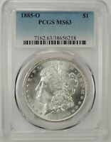1885-O $1 MORGAN SILVER DOLLAR PCGS MINT STATE 63 38656218 - GREAT EYE APPEAL