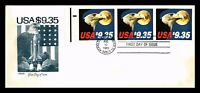 DR JIM STAMPS US EAGLE MOON HIGH VALUE FDC SEALED LEGAL SIZE