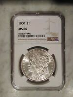 1900 MORGAN SILVER DOLLAR NGC MINT STATE 66