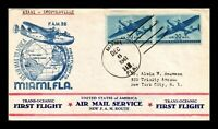 DR JIM STAMPS US MIAMI FLORIDA FAM 22 FIRST FLIGHT AIR MAIL