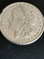 1887-S MORGAN SILVER DOLLAR - 90 US COIN -