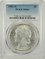 1902-O $1 MORGAN SILVER DOLLAR PCGS MINT STATE 61 39194489- VAM-31A CLASHED - BU COIN