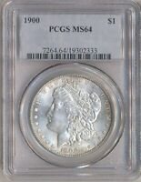 1900 MORGAN $1 PCGS MINT STATE 64