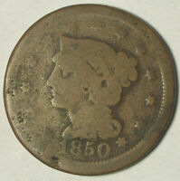 1850 LARGE CENT-CIRCULATED CONDITION