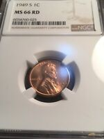 1949-S LINCOLN NGC MINT STATE 66 SEE MY LISTINGS FOR BU SETS AND KEY DATE LINCOLNS