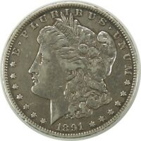 1891-P $1 MORGAN SILVER DOLLAR CIRCULATED AMERICAN COIN AS PICTURED 090720