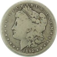 1892-S $1 MORGAN SILVER DOLLAR CIRCULATED AMERICAN COIN AS PICTURED 090720