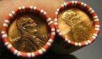 2 ROLLS OF 1984 P OBW LINCOLN MEMORIAL CENTS FROM PENNY COLL