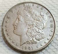 1901 P MORGAN SILVER DOLLAR $1 KEY DATE - MANY MINTED BUT FEW SURVIVED