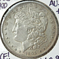 1903-P MORGAN SILVER DOLLAR,  CHOICE ALMOST UNCIRCULATED, 0913-18  BARGAIN